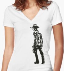 Carl Grimes Walking Dead Women's Fitted V-Neck T-Shirt