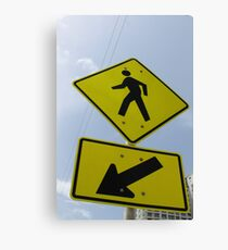 Here Is A Crossing Canvas Print