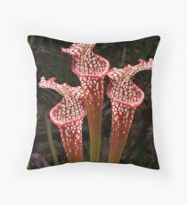 Pitcher Flowers Throw Pillow