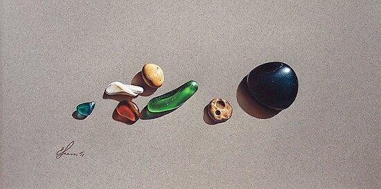 """""""Beach stones"""" by Elena Kolotusha"""