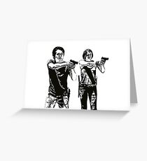 Glenn & Maggie Walking Dead Greeting Card
