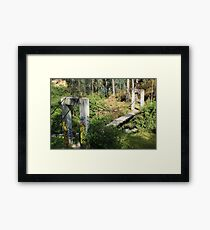 Swinging Bridge Over a Ravine Framed Print