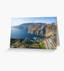 Sliabh Liag sea cliffs in Co. Donegal Greeting Card