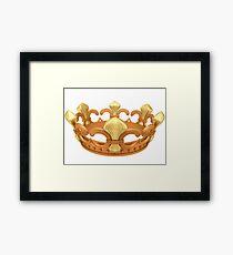 Royal gold crown Framed Print
