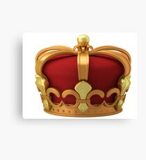 Gold imperial crown Canvas Print