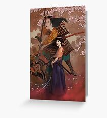 The Spirit of Tomoe Gozen Greeting Card