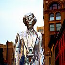 Andy Warhol statue in NYC  by DearMsWildOne