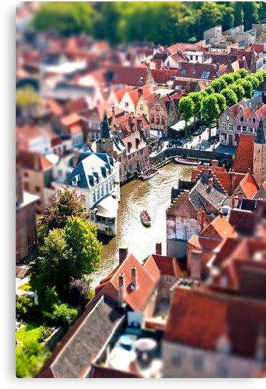 Bruges (tilt and shift) by Stephen Knowles