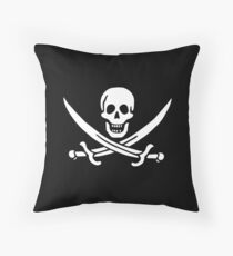 Pirate Flag - Calico Jack Throw Pillow