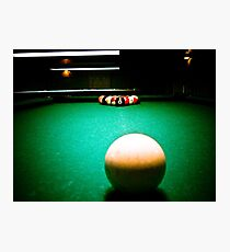 A Game of Pool 02 Photographic Print