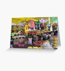Colourful mexican farmers market Greeting Card