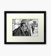 The Eyes of  a Mysterious Beauty Framed Print