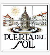 Puerta del Sol, Street Sign Madrid, Spain Sticker