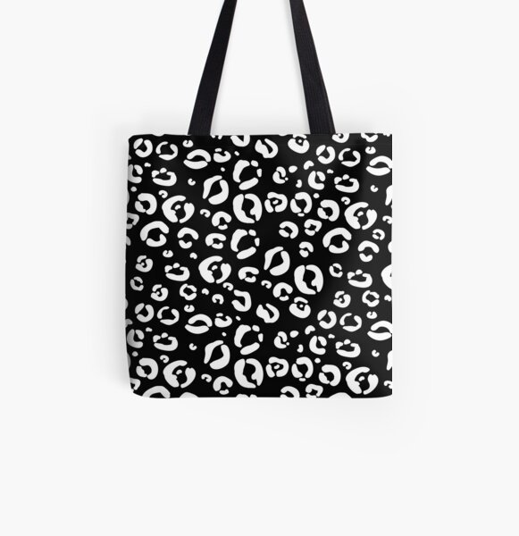 Animal print in black and white All Over Print Tote Bag