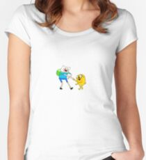 Aventure time  Women's Fitted Scoop T-Shirt