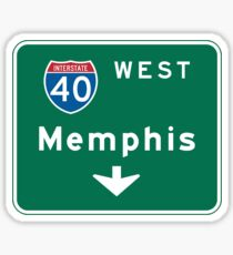 Memphis, TN Road Sign Sticker