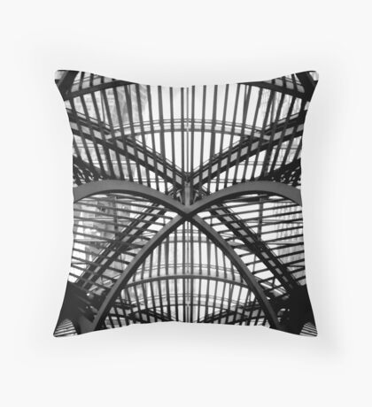 Roof structure in Toronto Throw Pillow
