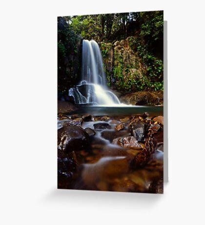 Waiau falls Greeting Card