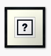 "Alphabet ""?"" Framed Print"