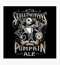 Skellingtons Pumpkin Royal Craft Ale Photographic Print