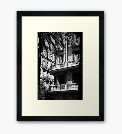 cityscapes #172, beneath palms Framed Print