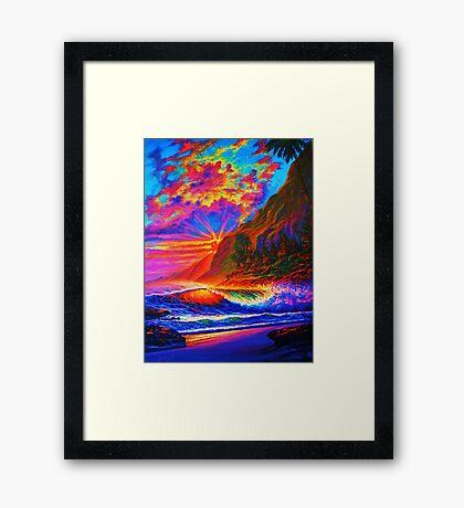 Molokai Sunset Framed Print