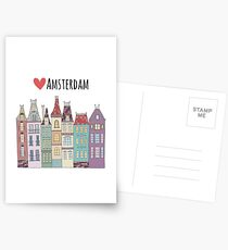 European houses in Amsterdam Postcards