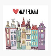 European houses in Amsterdam Photographic Print