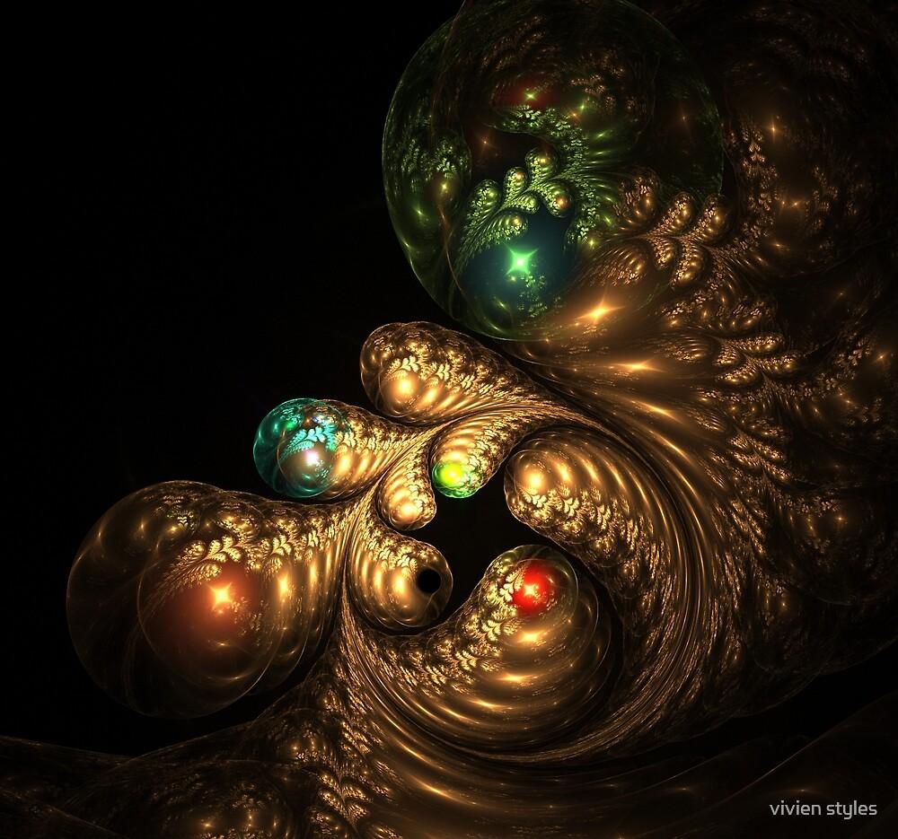Golden swirls by vivien styles