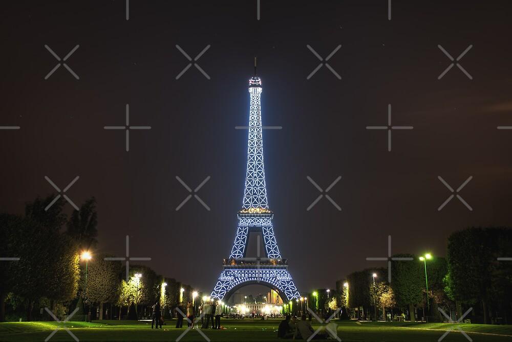 Blue Eiffel Tower by Conor MacNeill