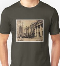 Rare Bath Vintage Travel Poster Restored T-Shirt