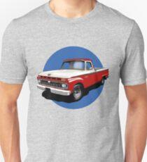 1966 Ford F100 Custom Cab - Red & White Unisex T-Shirt