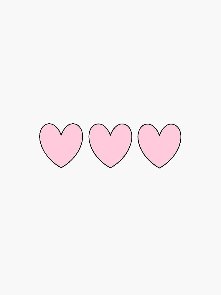 Pink Heart Sticker by amandabrynn