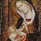 Madonna & Child  - Homage to Agnolo Gaddi. 1. by Ian A. Hawkins