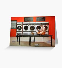 The Laundromat Greeting Card