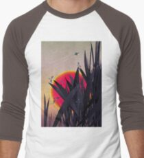 Red Heat (with Dragonflies) Men's Baseball ¾ T-Shirt