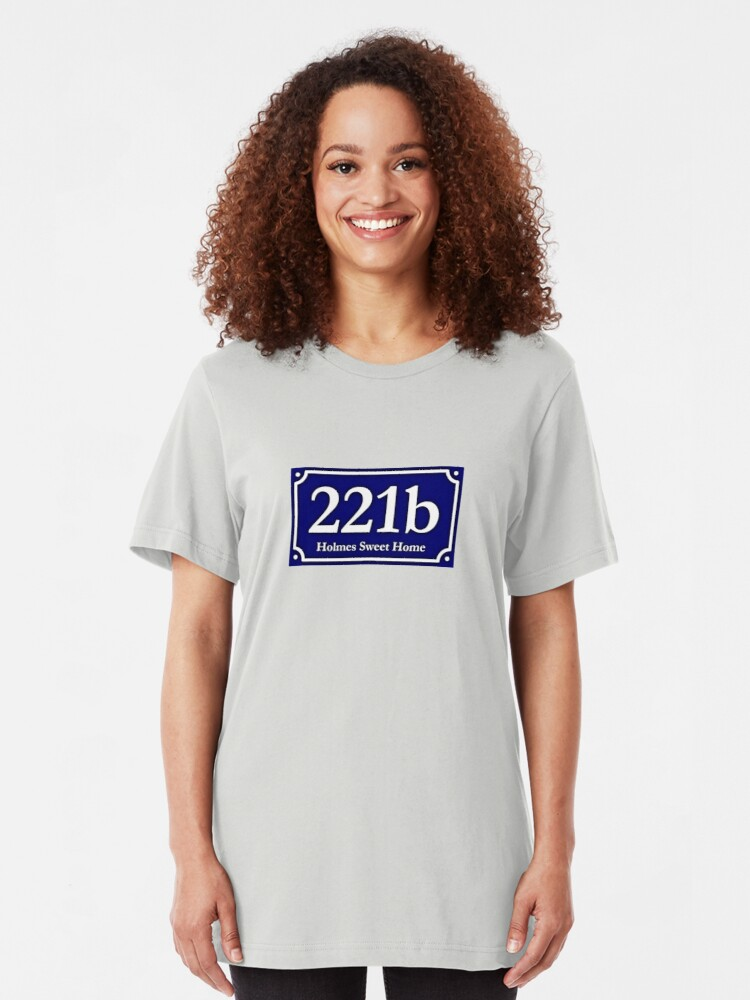 Alternate view of 221b - Holmes Sweet Home Slim Fit T-Shirt