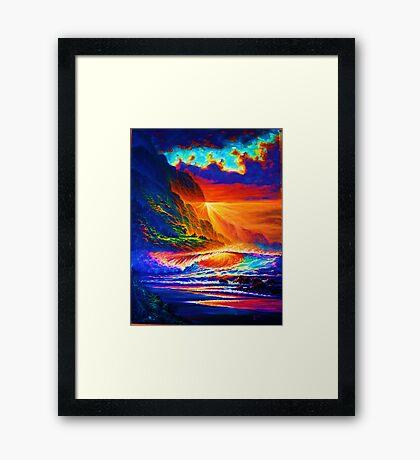 Napali Coast Sunset Framed Print