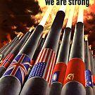 Propaganda Poster WWII ~ United Wir sind stark ~ Weltkrieg 2 ~ 0505 von ContrastStudios