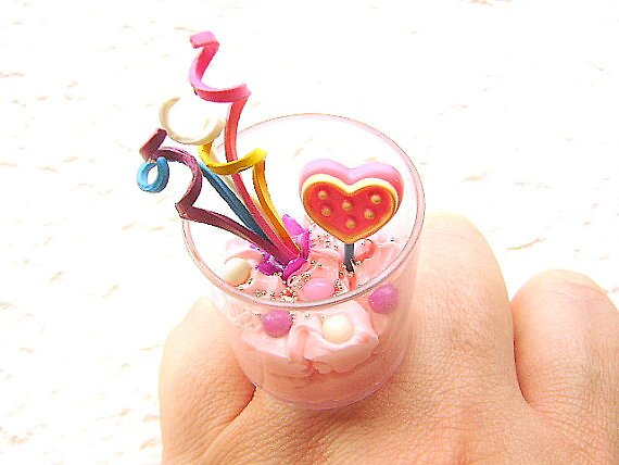 Party Ring Ice Cream Candy Lollipop by souzoucreations