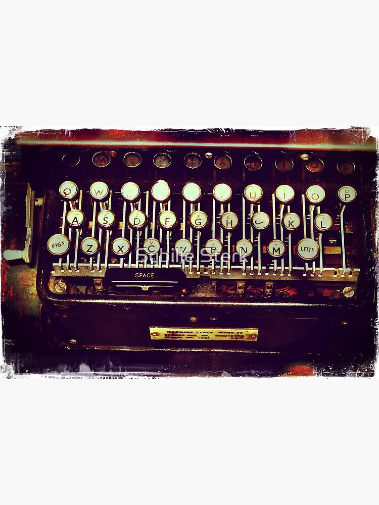 Enigma - Typewriter II by MagpieMagic