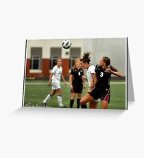 UIndy vs Old Dominican Womens Soccer 4 Greeting Card