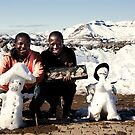 Two friendly Snowman  by Marethe