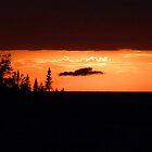 Sunset on Lake Superior by jrier