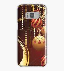 Decorative Gold Xmas Balls 4 Samsung Galaxy Case/Skin
