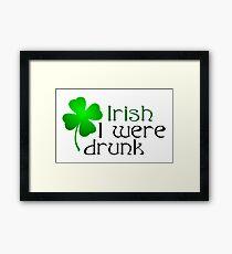 Ireland Beer Drunk Whiskey Framed Print