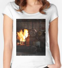Fireplace Women's Fitted Scoop T-Shirt