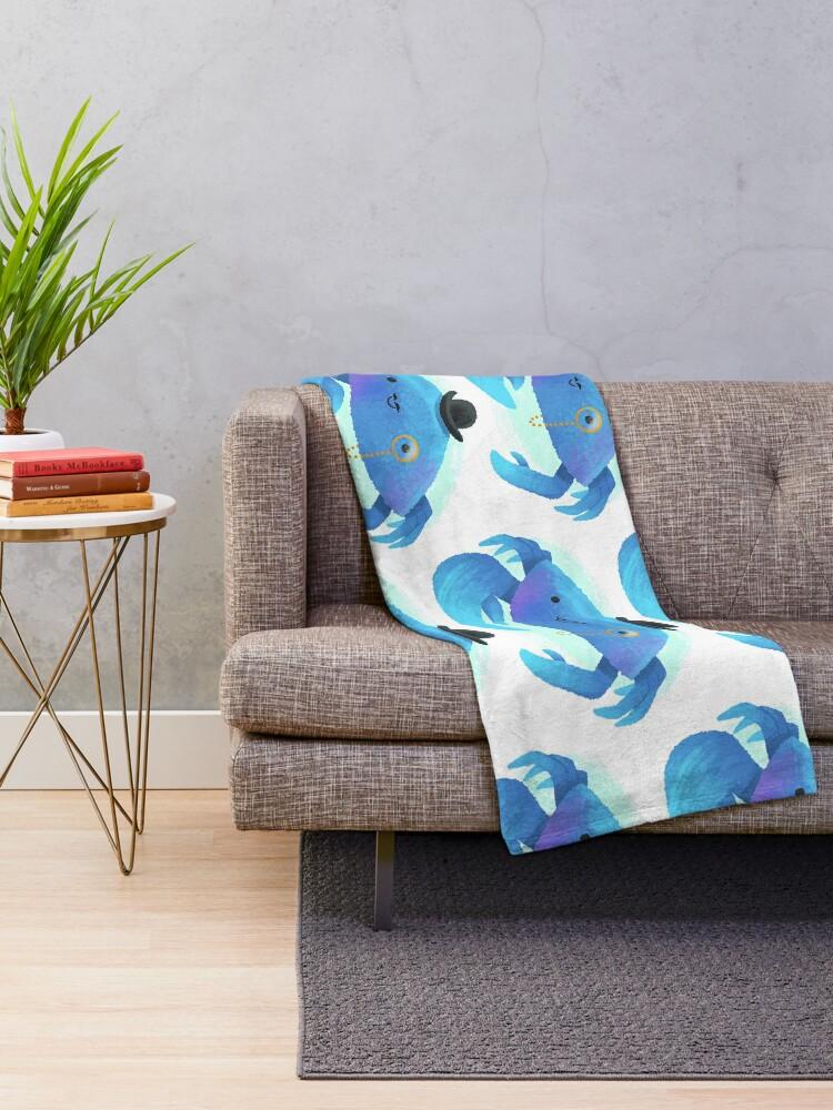 Alternate view of Gentleman Crab Throw Blanket
