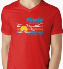 Amity Island Men's V-Neck T-Shirt