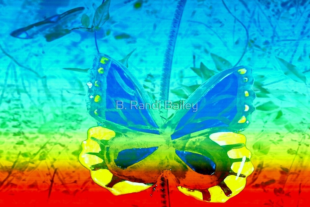 Butterfly in primary colors by ♥⊱ B. Randi Bailey
